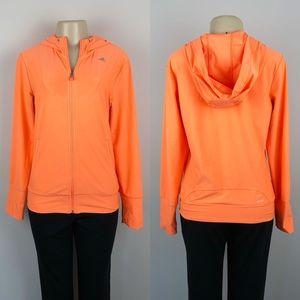 Adidas Woman's Climalite Light Orange Hoodie
